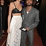 Kaia Gerber and Miguel Backstage at the British Fashion Awards 2019 in London