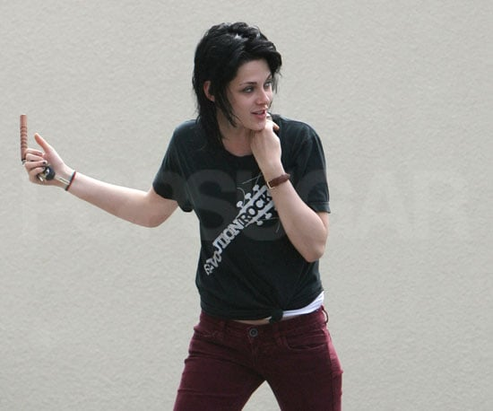 Photo Slide of Kristen Stewart and Her New Hair As she Heads to Work On The Runaways Where She Will Play Joan Jett
