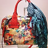 This Nanette Lepore bag showed off one of our favorite styling tricks.