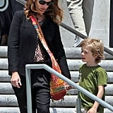 Julia Roberts chaperoned her son Henry's field trip to the National History Museum in LA on Friday.