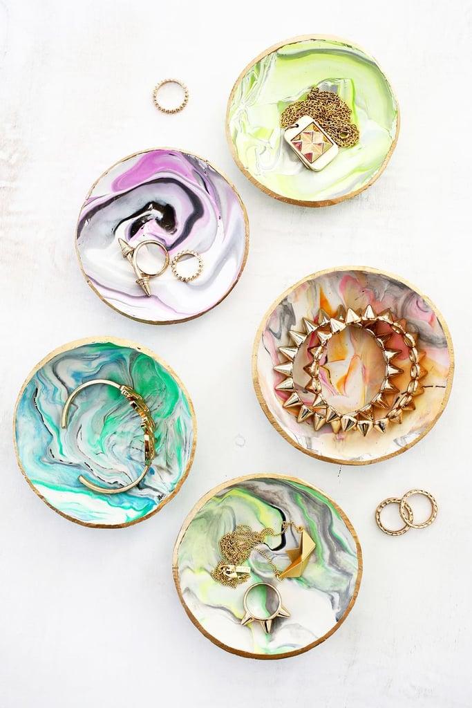Marbled-Clay Trinket Dish