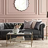Home Decorators Collection Gordon Grey Velvet Sofa