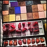 The ladies over at Vogue wasted no time getting painted up for their big night. Source: Instagram user voguemagazine