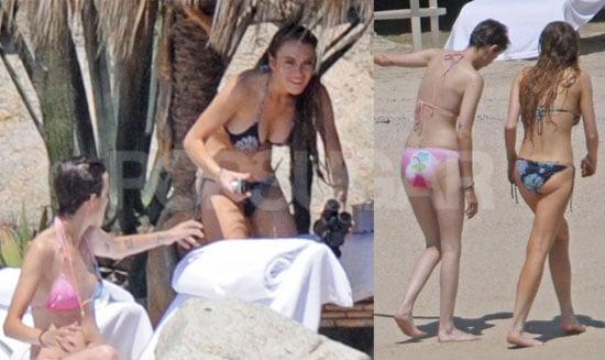 Lindsay Lohan and Samantha Ronson Bikini Photos on Vacation in Mexico