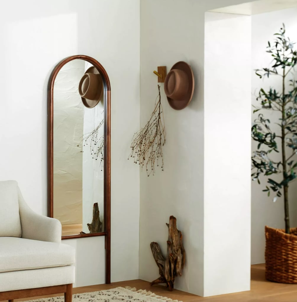 An Accent Mirror: Threshold Designed With Studio McGee Wood Arched Floor Mirror