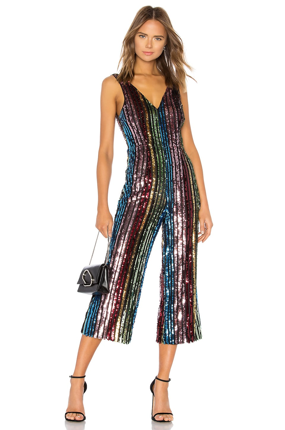 online store get new sports shoes LPA Double V Jumpsuit in Multi Sequin   Sandra Bullock's ...