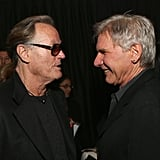 Harrison Ford and Peter Fonda chatted inside the bash.