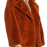 Kenneth Cole New York Double-Breasted Faux Fur Jacket
