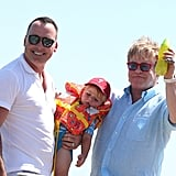 Elton John took a family vacation with David Furnish and Zachary Furnish-John.
