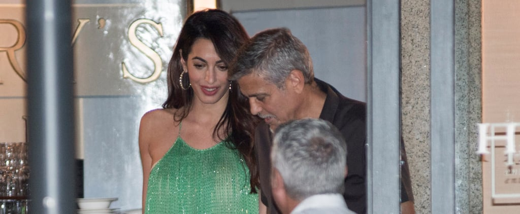 Amal Clooney Wearing Stella McCartney Green Maxi Dress