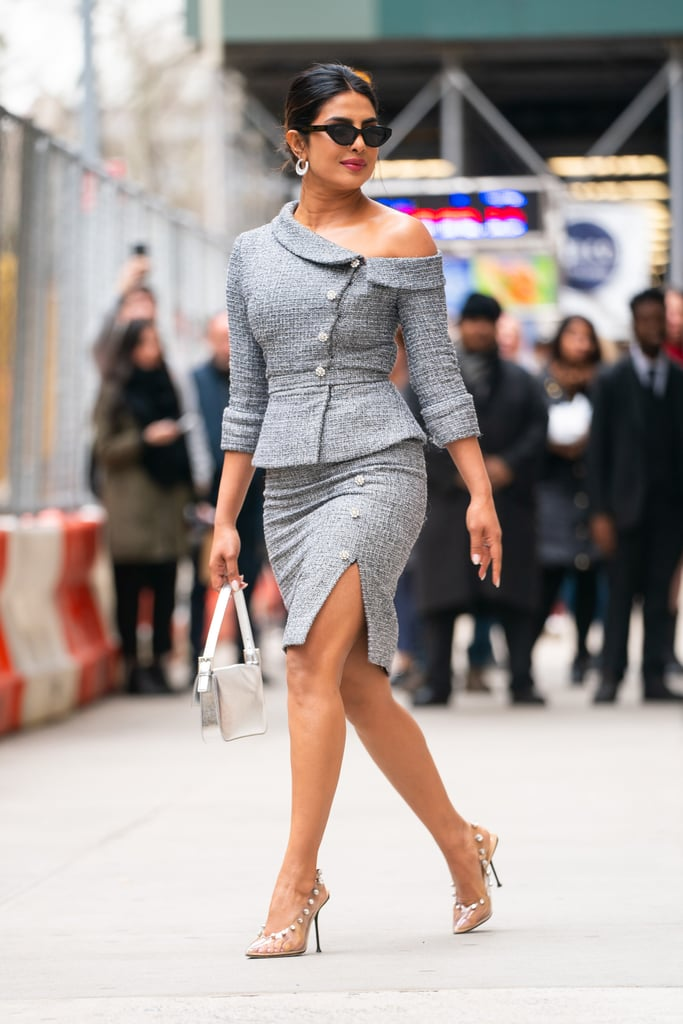 Priyanka Chopra Clear Sergio Rossi Heels April 2019