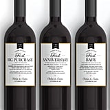 LabelWithLove Wedding Milestone Wine Labels (starting at $20)