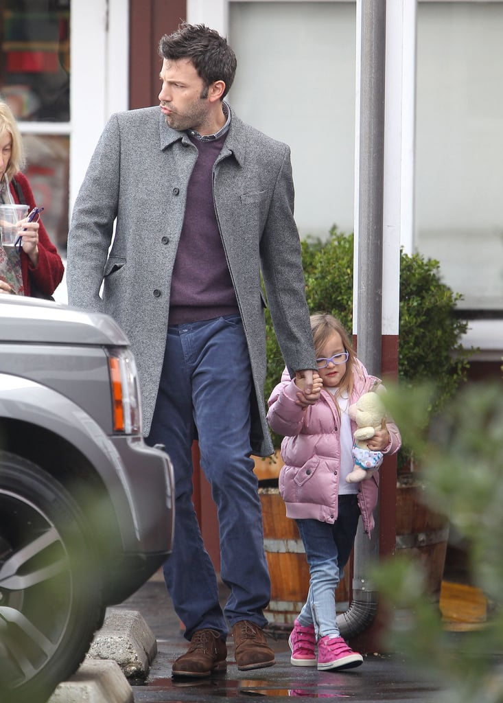 Ben Affleck took his mom, Chris Affleck, and youngest daughter, Seraphina Affleck, out for coffee in LA earlier today. The happy family's caffeine run came on the heels of this morning's SAG Award nominations, where Ben's film Argo nabbed a nomination for best ensemble cast. Hopefully, that kind of recognition will continue throughout award season. Ben's now prepping for the Golden Globe nominations, which will be announced bright and early tomorrow.  Ben and his mom are watching over Seraphina and Violet while his wife, Jennifer Garner, stays in New Orleans with baby Samuel. She's continuing to film The Dallas Buyer's Club with costars Matthew McConaughey and Jared Leto.
