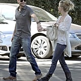 Julianne Hough and Ryan Seacrest held hands on their way into the Bel Air Hotel in November 2011.