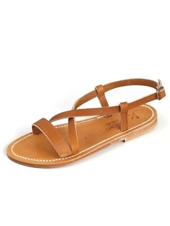 """""""K. Jacques sandals have been around since the early '30s, which pretty much means these chic, handmade camel-hued sandals are made to ensure the ultimate comfortable fit for walks around St.-Tropez and beyond."""" — Chi Diem Chau, associate editor  K. Jacques Flavia Flat Sandals ($225)"""