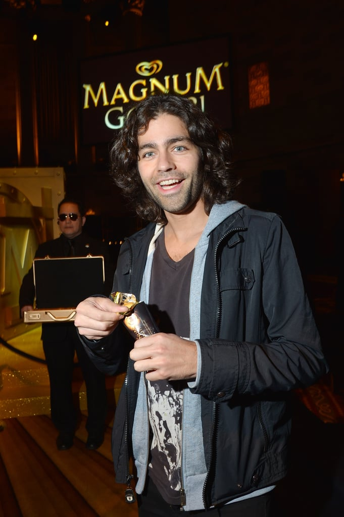 Adrian Grenier smiled big at Magnum ice cream's As Good as Gold event.