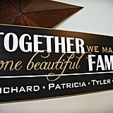 Beautiful Family Sign