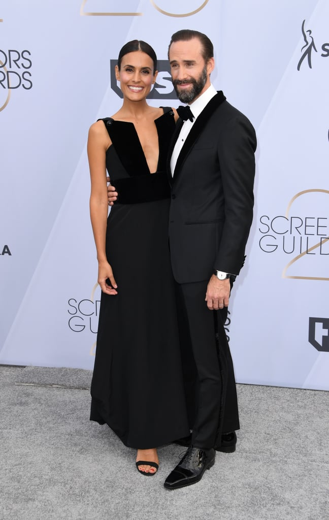 Joseph Fiennes and Maria Dolores Dieguez at the 2019 SAG Awards