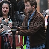 Robert Pattinson met fans at The Today Show.