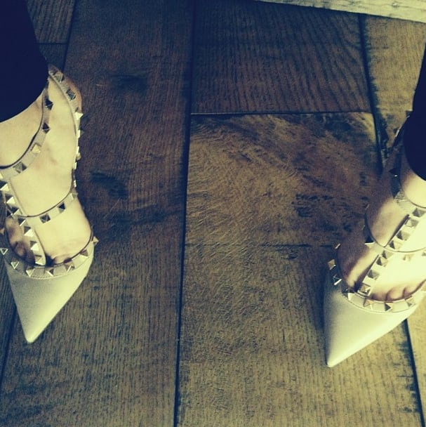 Hilary Duff showed off these spiked Valentino stunners. Source: Instagram user hilaryduff
