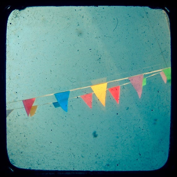 This bunting photo print ($16) offers a bright, playful vibe that's perfect for the season of rainbows.