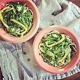 This bright and fresh zoodle dish is Spring in a bowl! Combine your zucchini with asparagus, yellow bell pepper, and jalapeños for a slightly sweet, slightly spicy lunch or dinner.