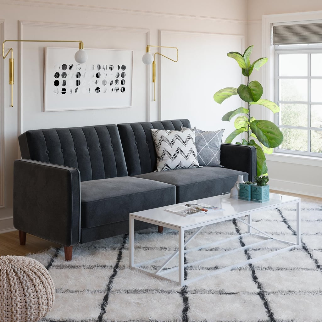 Dhp Pin Tufted Transitional Velvet Futon Couch Best