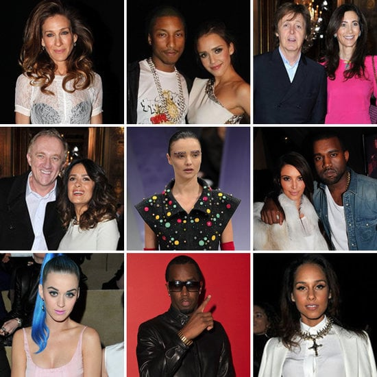 Pictures of Front Row Celebrities at 2012 Fall Paris Fashion Week