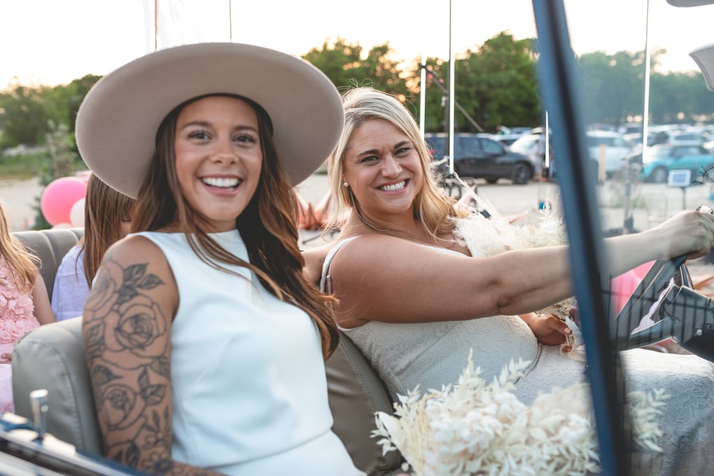 Couple's Socially Distanced Wedding at a Drive-In Theater