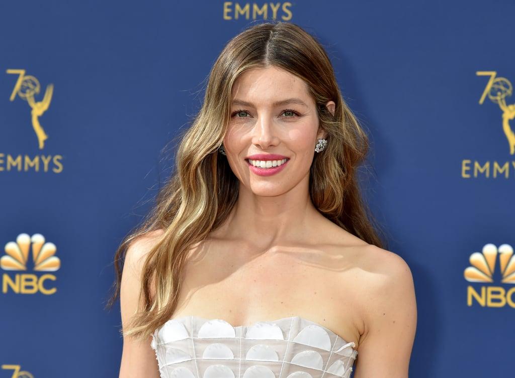 Jessica Biel's 2018 Emmys Beauty Look