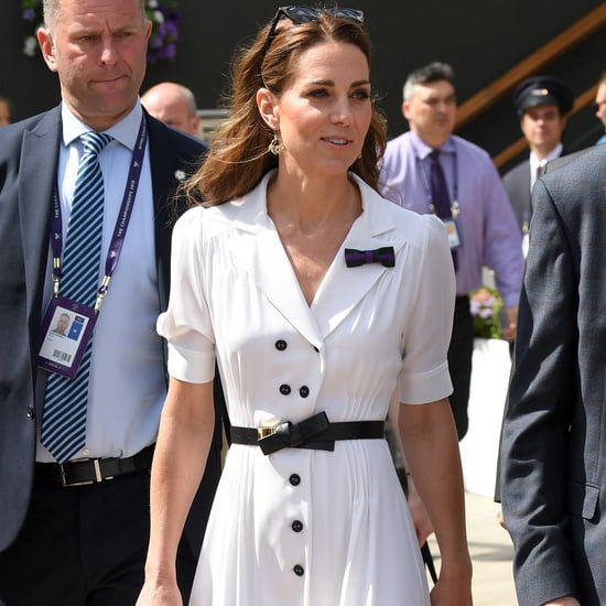 Kate Middleton White Dress at Wimbledon 2019