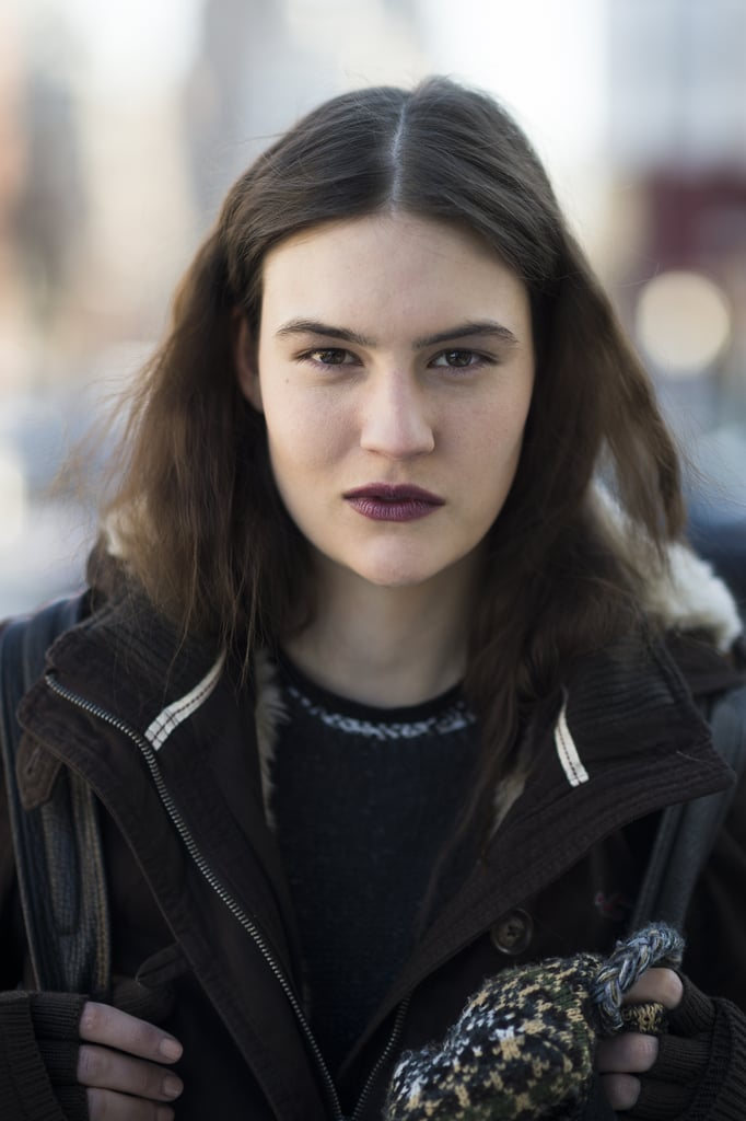 This '90s-inspired grunge look from model Maria Bradley is sure to be a huge trend come Fall. Source: Le 21ème | Adam Katz Sinding