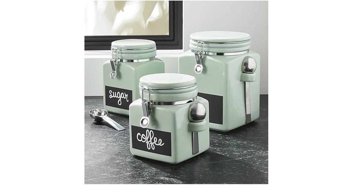 Crate u0026 Barrel Pistachio Cl& Canisters | Retro Kitchen Items | POPSUGAR Food Photo 4  sc 1 st  Popsugar & Crate u0026 Barrel Pistachio Clamp Canisters | Retro Kitchen Items ...