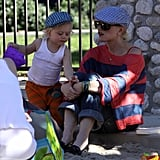 Gwen Stefani Takes Kingston and Zuma to the Park in Style