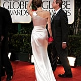 Angelina Jolie at the Golden Globes.