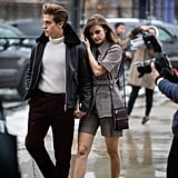 Barbara and Dylan Outside Boss during New York Fashion Week in February 2019