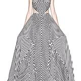 Rosie Assoulin 'La Scarpa' Cutout Stripe Organza Gown ($11,980)