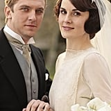 Mary and Matthew pose in their wedding best. Source: PBS
