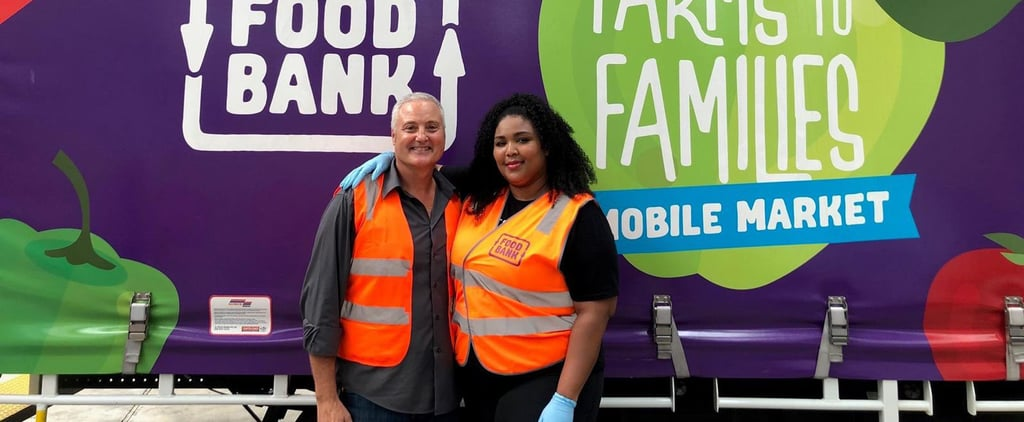 Lizzo Visited a Foodbank in Australia to Aid in Fire Relief