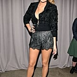 Dress as though you were getting ready for bed, then throw on heels and hit the town. Blake's lacy, lingerie-inspired shorts are boudoir-ready.
