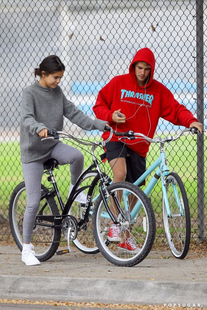 They rode bikes together in LA after rekindling their romance in November 2017.