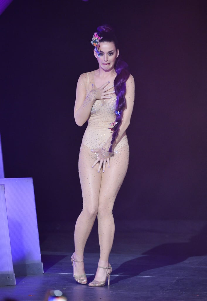 Katy Perry wore a nude-colored costume to the MuchMusic Video Awards in Toronto.