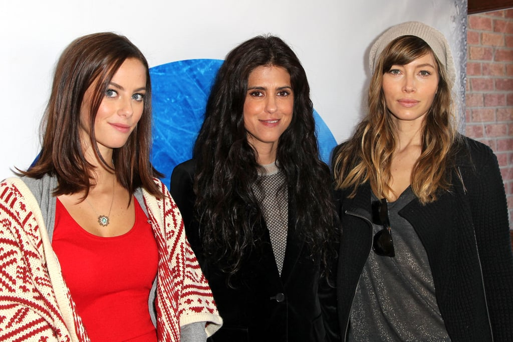 Jessica Biel and Kaya Scodelario posed together with Francesca Gregorini at Sundance on Friday.