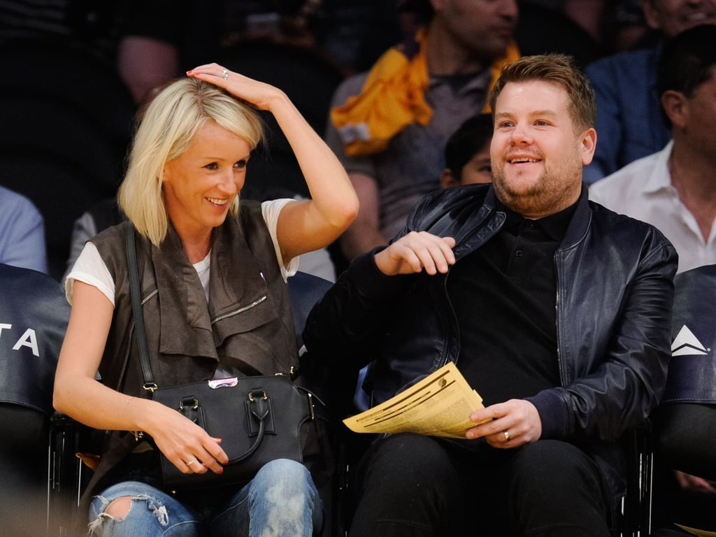 James Corden and Juila Carey on a date