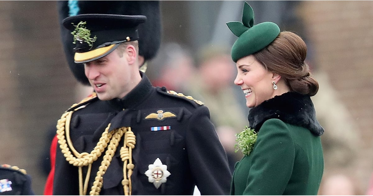 Kate Middleton Cradles Her Growing Baby Bump at the Irish Guards St. Patrick's Day Parade