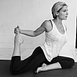 Elsa Pataky also got into the yoga mood. Source: Instagram user elsapatakyconfidential