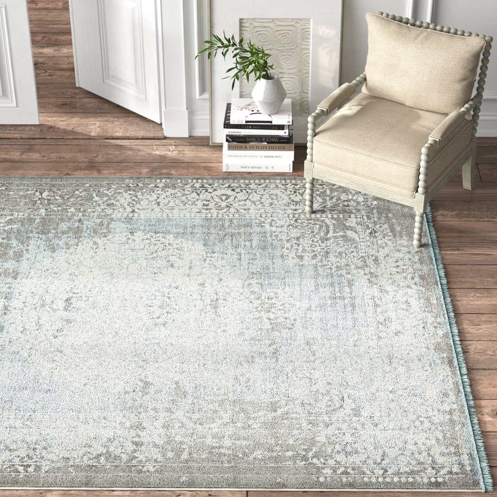 Coeur Power Loom Gray Light Blue Ivory Area Rug Kelly Clarkson And Wayfair Fall Collection Popsugar Home Uk Photo 12