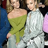 Nina Agdal and Delilah Belle Hamlin at John John Fall 2019