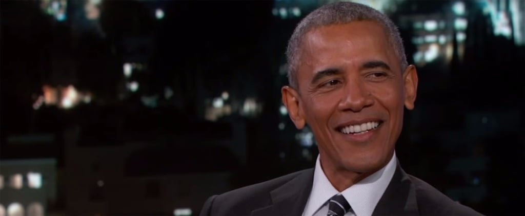 Watch Obama's Perfect Response When Jimmy Kimmel Asks If He Knew the Trump Tape Would Go Viral
