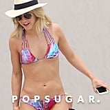 Julianne Hough gave photographers a peek at her rock-hard abs when she hit up the beach in Mexico in March 2016.
